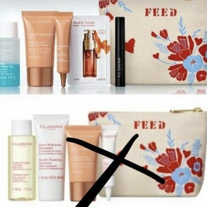 CLARINS 6pc Extra Firming Gift Set FEED Bag GWP